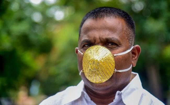 $4000 gold facemask corona