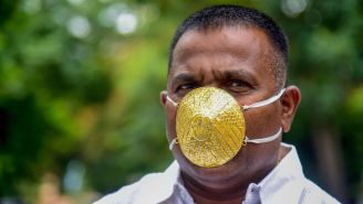 Indian Businessman With $4K Pure Gold Face Mask Admits It 'Probably Isn't The Best Choice' To Protect Against Virus
