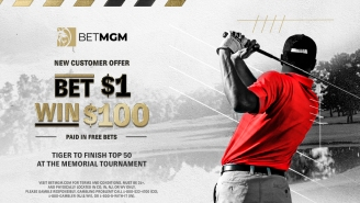 Tiger Woods' Return: Spend $1 With BetMGM And Win $100 In Free Bets If Tiger Makes The Cut At The Memorial