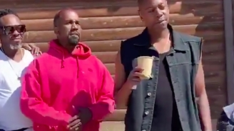 Dave Chappelle Stopped By Kanye West's Ranch In Wyoming To Hopefully Share Some Words Of Wisdom He Seems To Need