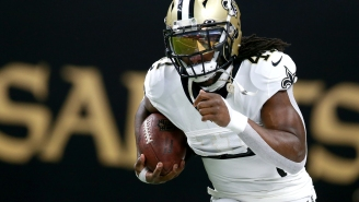 Alvin Kamara's Training Routine Has Been Upgraded, And Now He's Playing Bop It On One Leg