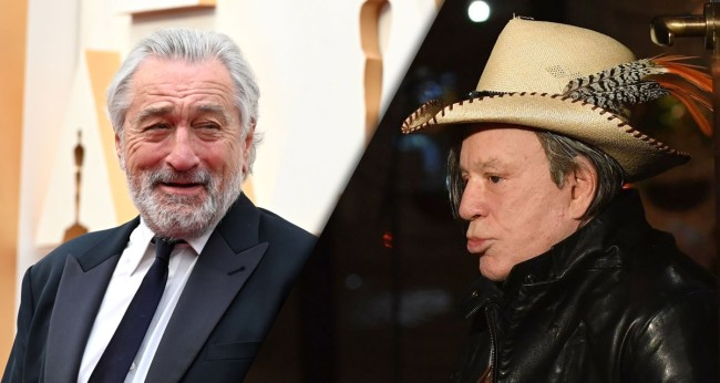 Mickey Rourke Rips Ex Co-Star Robert De Niro In Angry Instagram Post