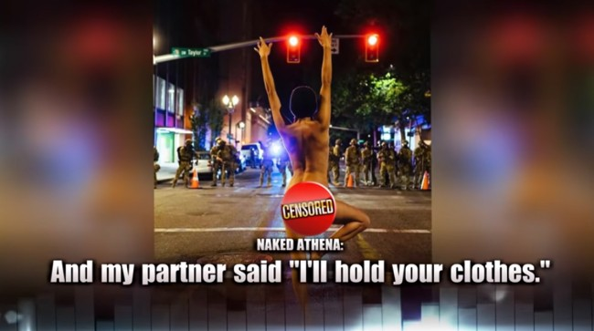 Portland Protester Explains Why She Faced Down Police Completely Naked