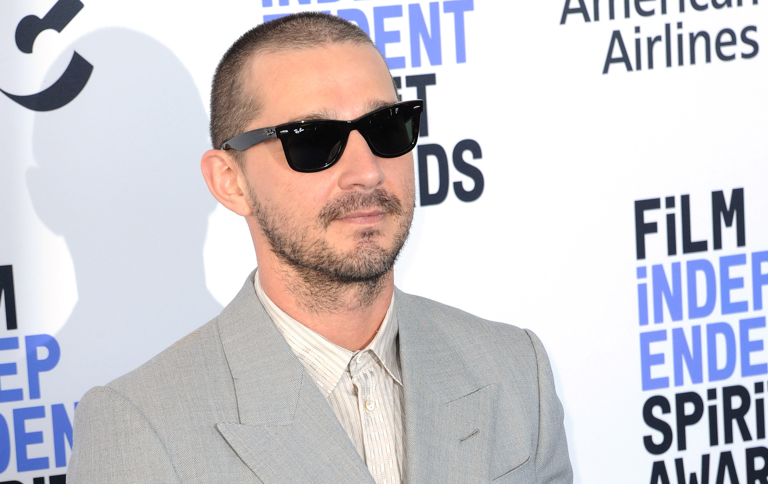 Tattooed Shia LaBeouf Poses for Photos with Fans in His