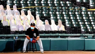 White Sox Fan Buys 100 Cardboard Cutouts Of Himself To Fill Empty Seats And Boo The Twins