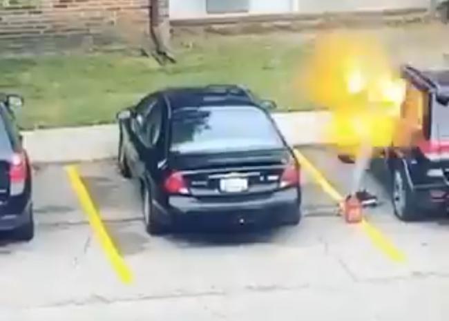 Woman Fails Car Fire