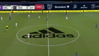 MLS Fans Were Annoyed With Huge Adidas Logo On The Field In First Game Back