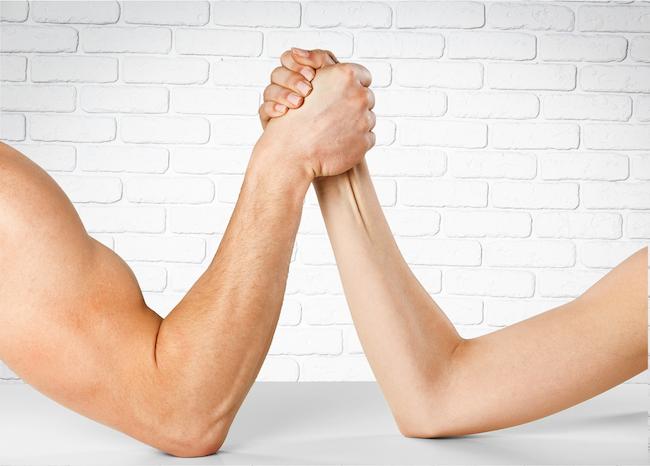 arm wrestling dad