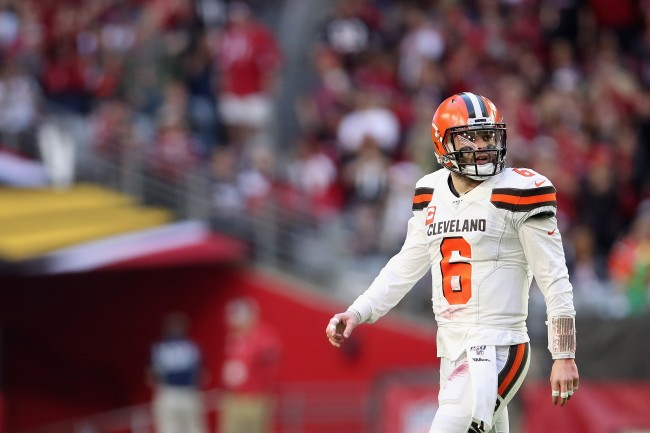 ESPN analyst Damien Woody claims Baker Mayfield could see a Mitch Trubisky situation if he keeps struggling with Browns this season