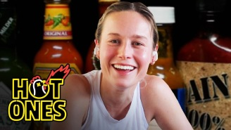 Brie Larson Barely Makes To The End Of The Hot Ones Challenge, Reveals Serious Geek Tendencies
