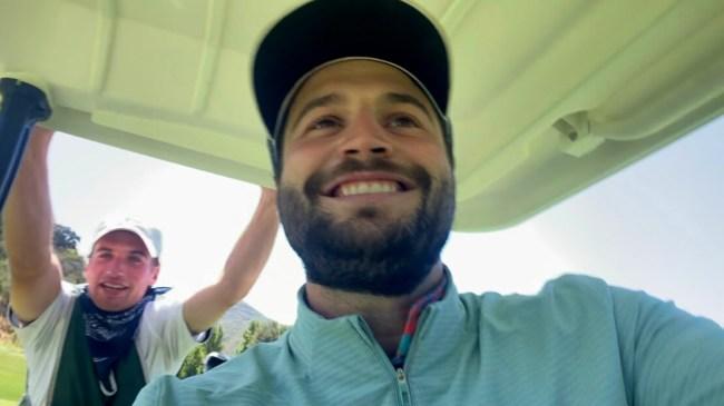 golfing with a caddie