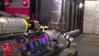 Mad Scientist Builds The Most Powerful Semi-Automatic Potato Gun I've Ever Seen
