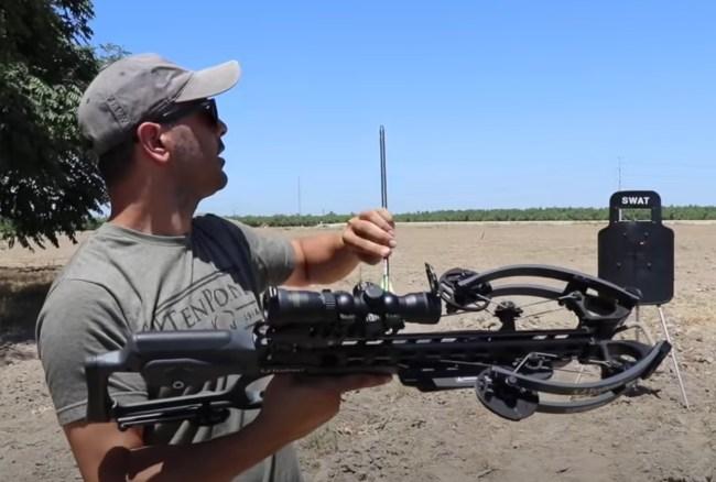 crossbow vs SWAT shield