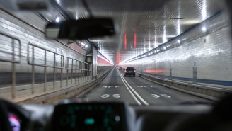 Ho Hum, The Lincoln Tunnel Sprung A Leak With Traffic Completely Stopped During Rush Hour