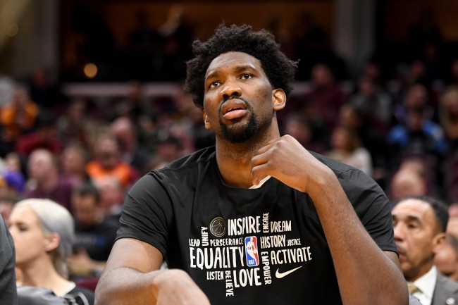 Joel Embiid was spotted wearing a full hazmat suit during flight to the NBA bubble and Twitter had all sorts of jokes