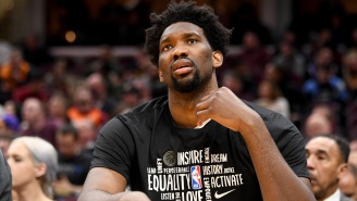 Joel Embiid Took No Chances By Donning A Full Hazmat Suit And Mask During Team Flight To NBA Bubble