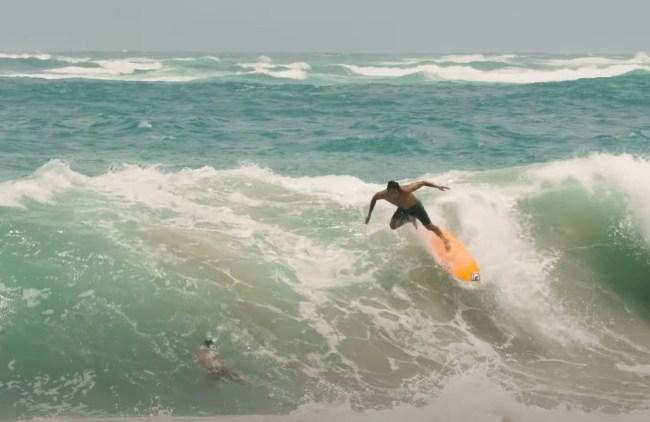 Koa Rothman Surfing Hurricane Douglas Waves
