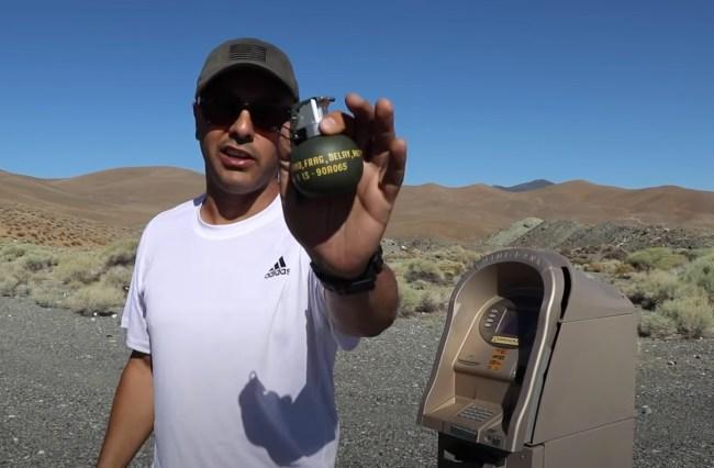 M67 Frag Grenade vs ATM Machine