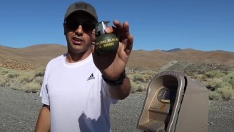 Guy Detonates An M67 Frag Grenade Inside An ATM Machine To Test How Strong They Really Are