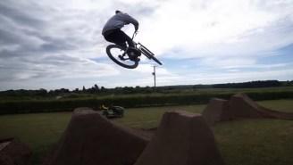 Mountain Biker Matt Jones Turned 100 Tons Of Dirt Into This Sick Backyard Track During Corona Lockdown
