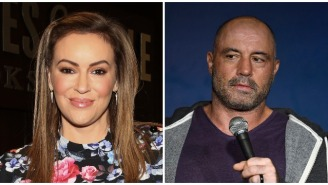 Joe Rogan Mocks 'Activist' Alyssa Milano After She Complained That Her Podcast Wasn't As Popular As His