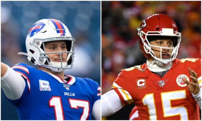 patrick mahomes josh allen throwing contest madden ratings