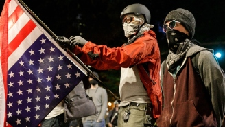 Watch This Portland Protestor Catch A Tear Gas Cannister With A Lacrosse Stick And Send It Back At Police