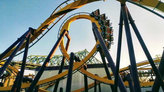 california roller coasters no screaming