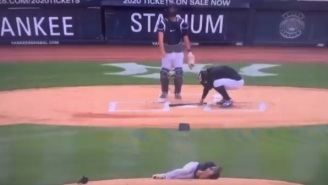 Scary Scene Unfolds In Yankees Team Workouts As Masahiro Tanaka Takes A Giancarlo Stanton Line Drive To The Head