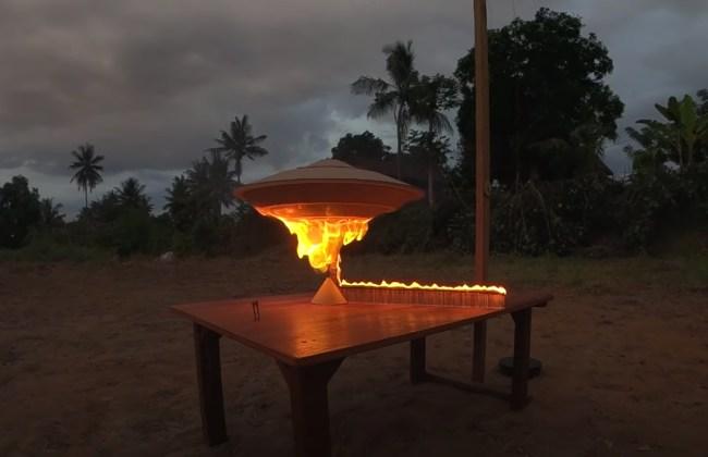 UFO made using 25,000 matches