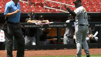 An Umpire Calmly Put On A Mask Before Arguing With Pirates Manager Derek Shelton From A Distance In A Truly Surreal Exchange