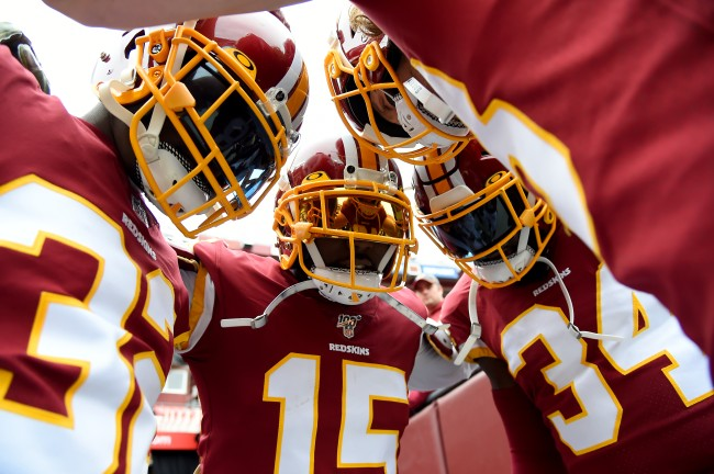NFL fans get a quick look at the updated uniforms of the Washington Football Team for the 2020 season