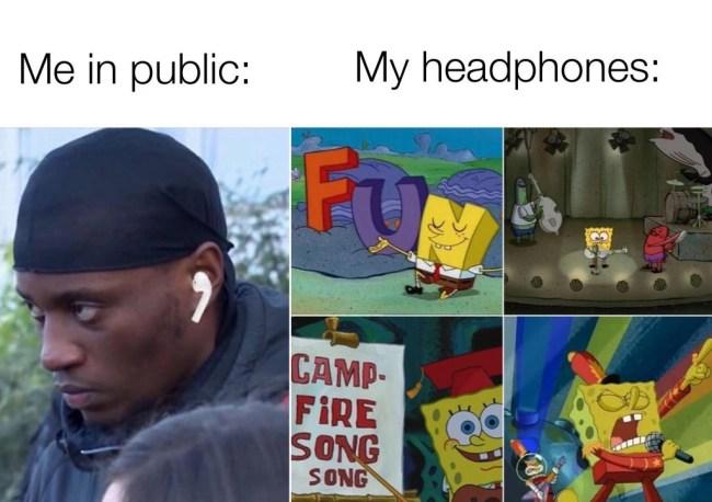 50 best memes me in public vs headphones