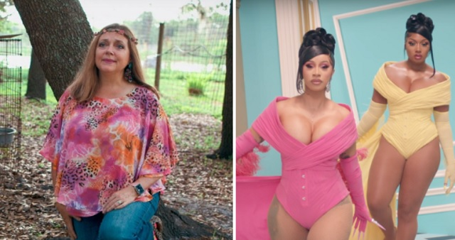 Tiger King's Carole Baskin Blasts Cardi B And Megan Thee Stallion For Using Exotic Cats In WAP Video