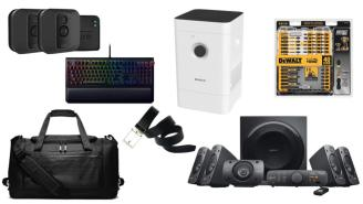 Daily Deals: Air Purifiers, Screwdriver Bit Sets, Speaker Systems, Security Cameras, Nike Sale And More!
