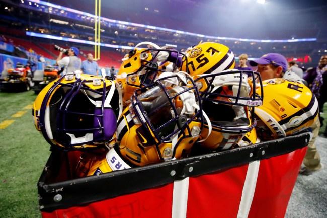 lsu college football face shield helmet