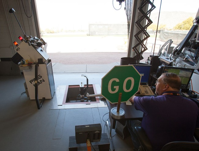 golf robot equipment testing ball testing