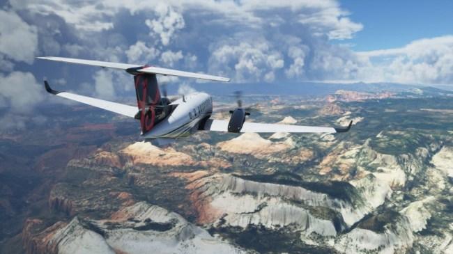 Microsoft Flight Simulator Players Are Chasing After Hurricane Laura