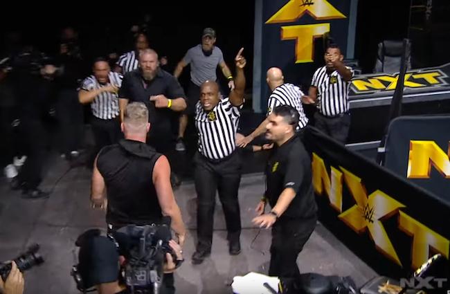 Pat McAfee Adam Cole NXT Fight