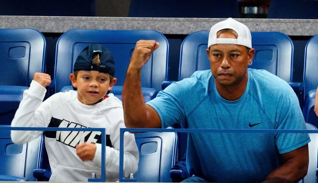 Tiger Woods Was The Perfect Parent While Caddying For His Son Charlie
