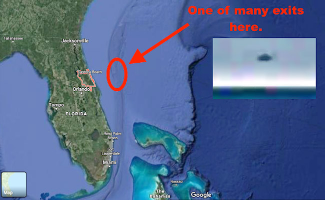 UFO Sighting Proof Of An Alien Base Off The Coast Of Florida