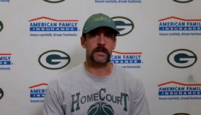 The Internet Mocks Aaron Rodgers Ridiculous New Handlebar Mustache Brobible