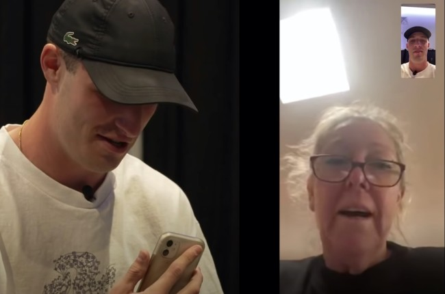 Mom reacts to son's pro debut