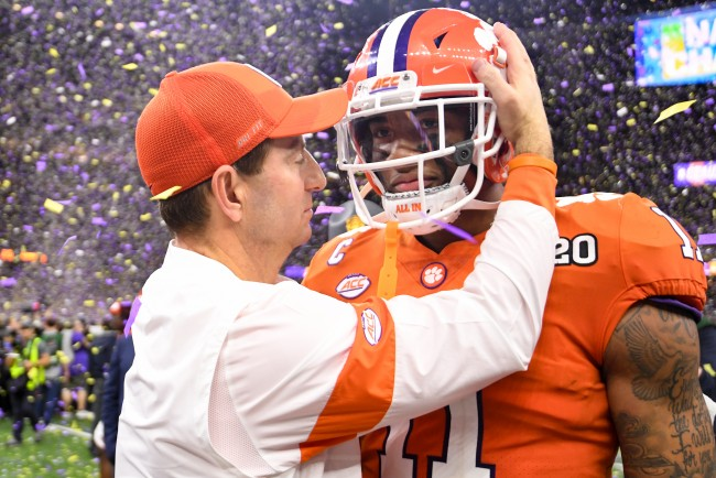 Clemson Tigers head football coach Dabo Swinney doesn't think the national title loses value even without every team playing because of COVID