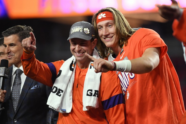 ESPN's Mike Tannebaum claims Dabo Swinney and Trevor Lawrence could be a package deal for Jacksonville Jaguars next year