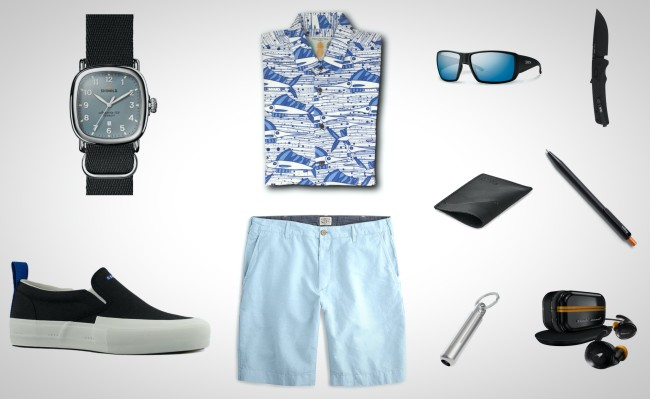 black and blue everyday carry items