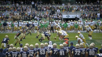 Notre Dame President Sent This Threatening Letter To Students After They Stormed The Field Against Clemson