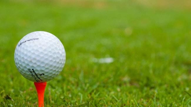 bullet hits golf ball