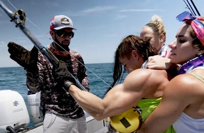 Goliath Grouper fishing world's strongest women