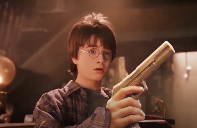 Harry Potter Wands Replaced With Guns